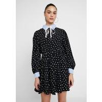Sister Jane FONDNESS MINI SKATER DRESS Sukienka koszulowa black/white QS021C04O