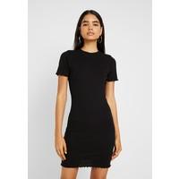 Missguided Tall LETTUCE HEM MINI DRESS 2 PACK Sukienka z dżerseju black/khaki MIG21C04Z