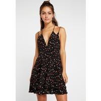 Missguided Petite STRAPPY SKATER DRESS Sukienka letnia black M0V21C07O