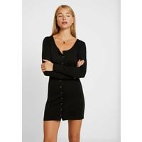 Missguided Petite POPPER FRONT MINI DRESS Sukienka dzianinowa black M0V21C07J