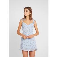 Missguided FLORAL TIE SHOULDER MINI DRESS Sukienka koktajlowa blue M0Q21C1AE