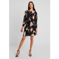 Vero Moda VMVERA O NECK SHORT DRESS Sukienka letnia black/mauve VE121C1UQ