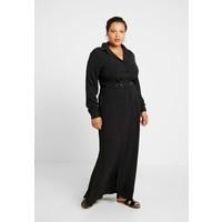 Missguided Plus MAXI BELTED DRESS Sukienka koszulowa black M0U21C09K