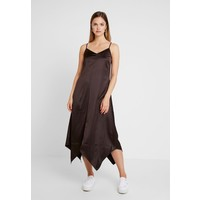 Warehouse HANKY HEM CAMI DRESS Długa sukienka chocolate WA221C0KJ