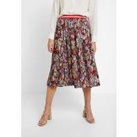 Rich & Royal PLISSEE SKIRT PRINTED Spódnica trapezowa cherry red RI521B010