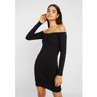 Missguided Tall LETTUCE HEM BARDOT MINI DRESS 2 PACK Sukienka z dżerseju black/burgundey MIG21C050