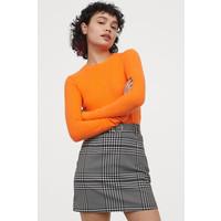 H&M Dżersejowa spódnica we wzory 0409424002 CzarnyBiały