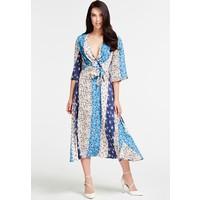 Guess FANTASIEPRINT Sukienka letnia beige/light blue/dark blue GU121C0MN