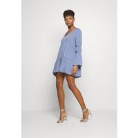 Missguided V NECK TIERED MINI DRESS Sukienka letnia blue M0Q21C1IU