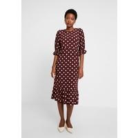 Noa Noa DRESS LONG SLEEVE Sukienka letnia print bordeaux NN121C0C7
