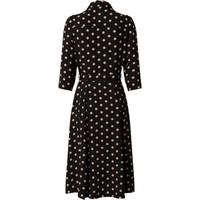 Dorothy Perkins Sukienka koszulowa 'BLACK AND CAMEL SPOT 3Q SLEEVE SHIRT DRESS' DPK0833001000005
