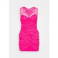 Missguided Petite BANDAGE HALTER MINI DRESS Sukienka koktajlowa pink M0V21C0BC