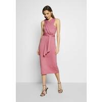 Lost Ink CROSS FRONT TIE WAIST DRESS Sukienka z dżerseju pink L0U21C0EZ