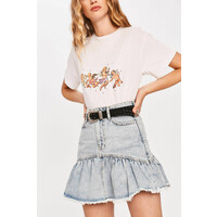 Answear Lab Spódnica jeansowa -100-SDD023