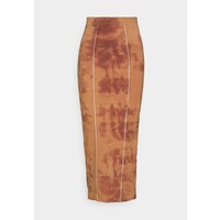 Missguided OVERLOCKED DETAIL MIDAXI SKIRT Spódnica ołówkowa brown M0Q21B0B7