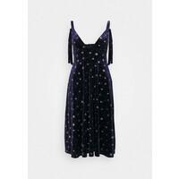 Missguided TIE STRAP MIDI DRESS Sukienka letnia navy M0Q21C1RM