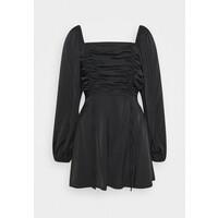 Missguided RUCHED BUST ALINE DRESS Sukienka letnia black M0Q21C1OZ