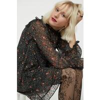 H&M Wzorzysta sukienka 0920696002 Czarny/Kwiaty