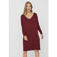 Vero Moda VMHOLLY V NECK LOOSE DRESS Sukienka dzianinowa cabernet VE121C2GN