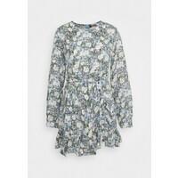 Missguided Petite RUCHED SIDE DRESS FLORAL Sukienka letnia blue M0V21C0DJ