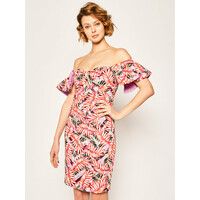 Guess Sukienka letnia Clara W0GK0T WCUV0 Kolorowy Regular Fit