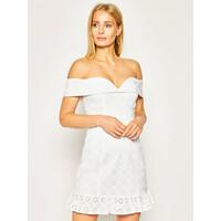Guess Sukienka letnia Krin W0GK57 WCTS0 Biały Slim Fit