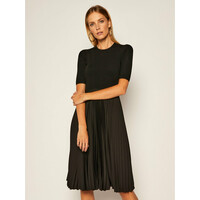 Calvin Klein Sukienka codzienna Pleated K20K202079 Czarny Regular Fit