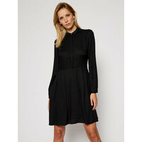 Calvin Klein Sukienka codzienna Twill K20K202417 Czarny Regular Fit