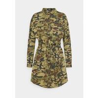 Missguided CAMO PRINT TIE WAIST DRESS Sukienka letnia khaki M0Q21C1V6