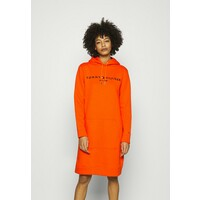 Tommy Hilfiger REGULAR HILFIGER HOODIE Sukienka letnia princeton orange TO121C0FZ