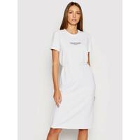Calvin Klein Sukienka codzienna Logo K20K202805 Biały Regular Fit