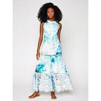 IXIAH Sukienka letnia IX22-80511 Biały Regular Fit