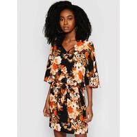 Seafolly Sukienka letnia Bora Bora Flora 54227-KA Kolorowy Regular Fit