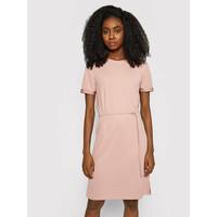 Calvin Klein Sukienka codzienna Logo Elastic K20K203021 Różowy Regular Fit