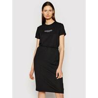Calvin Klein Sukienka codzienna Logo K20K202805 Czarny Regular Fit