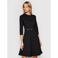 Calvin Klein Sukienka codzienna Milano K20K202571 Czarny Regular Fit