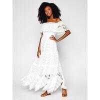 IXIAH Sukienka letnia IX22-80498 Biały Regular Fit