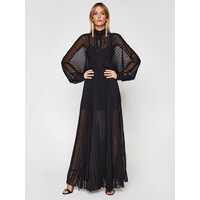 Patrizia Pepe Sukienka wieczorowa 2A2213/A9D5-K103 Czarny Regular Fit