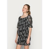 Missguided Maternity SHIRRED FLORAL MIDI DRESS Sukienka z dżerseju black M5Q29F00T