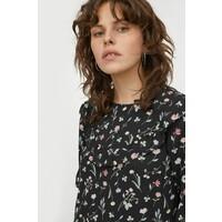 H&M Prosta sukienka 0960223001 Czarny/Kwiaty