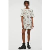 H&M Prosta sukienka 0960223002 Biały/Kwiaty