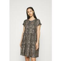 Vero Moda VMBRITTAPRINT O NECK SHORT DRESS Sukienka letnia black/laurel wreath VE121C2PS