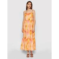 Rinascimento Sukienka letnia CFC0103696003 Pomarańczowy Regular Fit