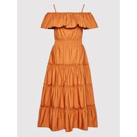 Rinascimento Sukienka letnia CFC0103583003 Pomarańczowy Regular Fit