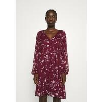 Vero Moda VMFRIDA V NECK SHORT DRESS Sukienka letnia winetasting VE121C33P