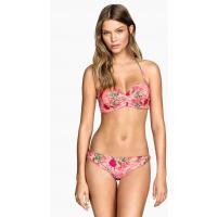 H&M Dół od kostiumu 0258275005 Różowy/Kwiaty