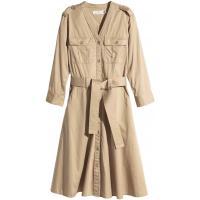 H&M Bawełniana sukienka 0296057002 Beżowy