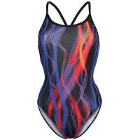 Zoggs FAIRLIGHT Kostium kąpielowy black/multicoloured ZG141H00W-Q11