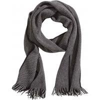 H&M Dzianinowy szalik 0320524004 Ciemnoszary/Czarny