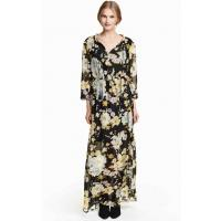 H&M Floral chiffon dress 0367679001 Black